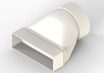 Picture of Extract duct round to rectangle adapter